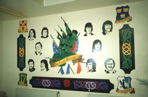 IRA mural, portraits of 10 hunger strikers who died in prison in 1981