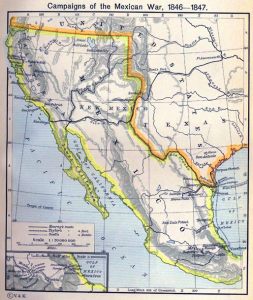 Mexico in 1847.  Source: University of Texas at Austin, Historical Atlas by William Shepherd (1911)