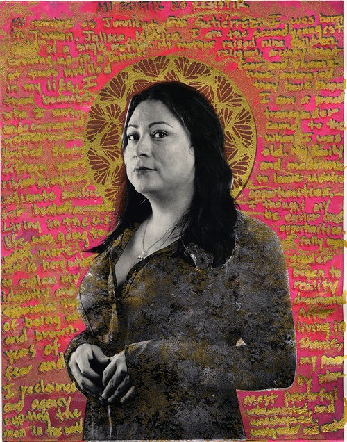 Gabriel García Roman, Jennicet, photo printed on collaged paper, 2017