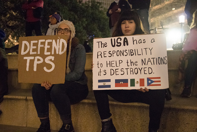 Image: Defend TPS!! January 14, 2018, Oakland, California. By Peg Hunter